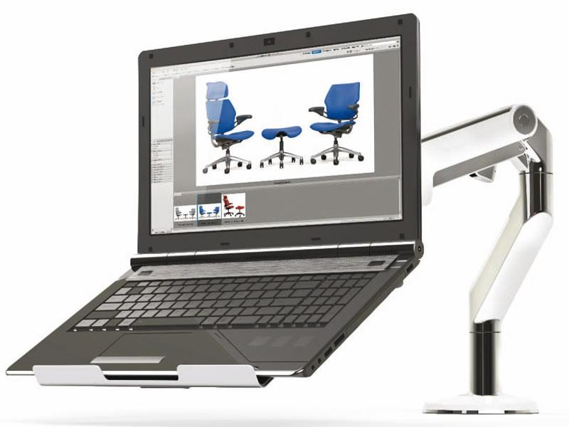 humanscale m2 m8 laptop halter m2nhs. Black Bedroom Furniture Sets. Home Design Ideas