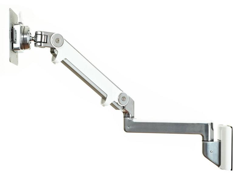 humanscale m2 wandhalterung mit schwenkarm wei m2hw2s. Black Bedroom Furniture Sets. Home Design Ideas