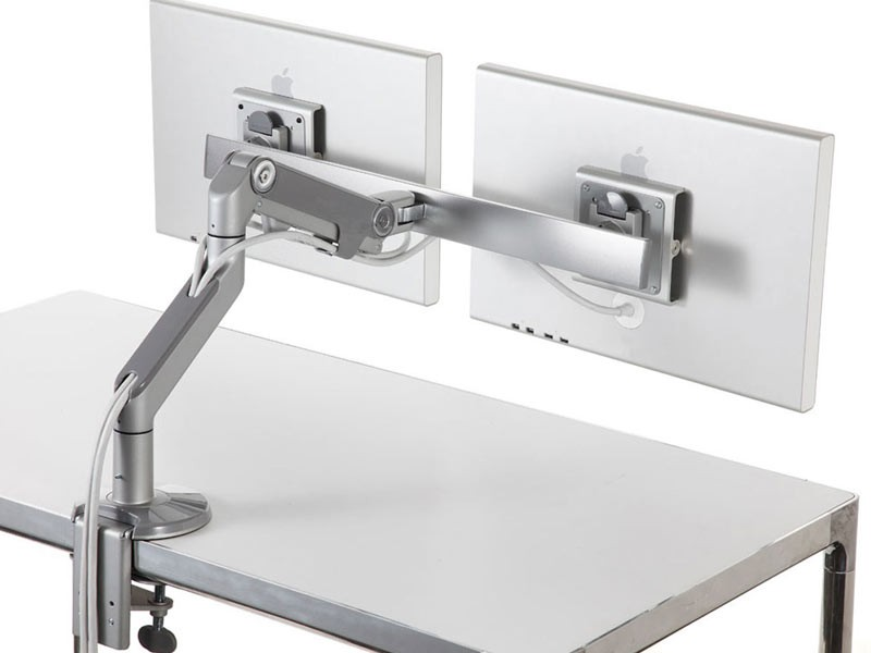 humanscale m8 doppel monitorhalterung f r usm tisch m8us1c. Black Bedroom Furniture Sets. Home Design Ideas